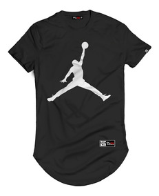 Camisa Camiseta Longline Michael Jordan Manga Curta