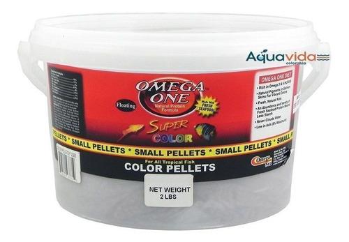 Super Color Pellets Small Pellets 2 Libras Omega One Peces