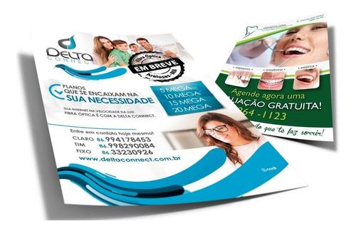Imagem 1 de 6 de 5000 Panfletos 10x14 Papel Couchê 90g Frente Frete Grátis