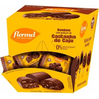 Bombom Chocolate Com Castanha De Caju Zero Açúcar Flormel