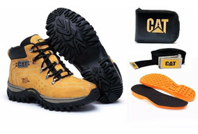 Coturno Bota Caterpillar Adventure Original Kit De Brinde