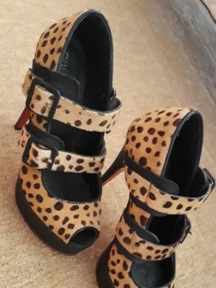Paruolo Sandalias Leopardo Piel Dos Usos