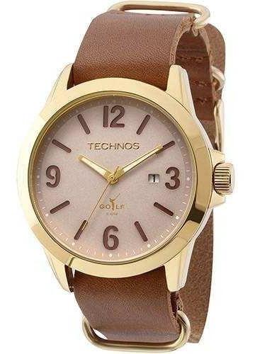 Relógio Masculino Technos Golf Analógico 2115kso/2c Couro