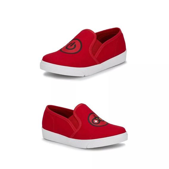 Sneaker Slip On Niño Rojo Andrea 2018