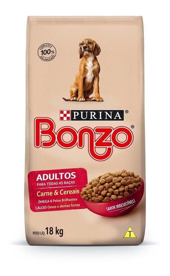 Purina Bonzo Ração Seca Cães Adultos Carne E Cereais 18kg