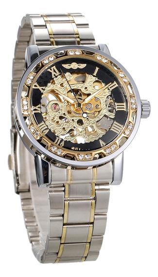 Reloj Automático Winner A La Moda Con Dial Luminoso P/hombre