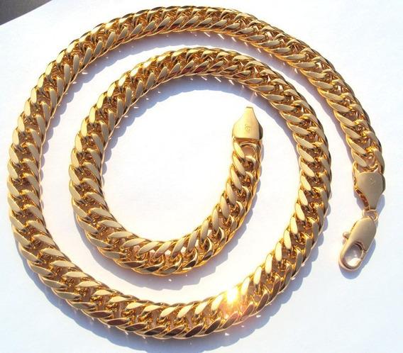 Corrente Cordão Masculino Folheado Ouro 51cm Grumet Frete 10