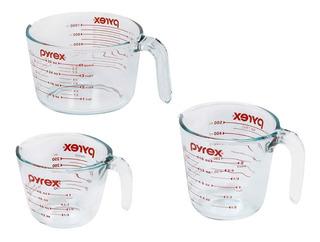 Pyrex Tazas Medidoras De Vidrio 3 Unidades
