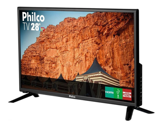 Tv Led 28 Preto Philco Bivolt Ph28d27d