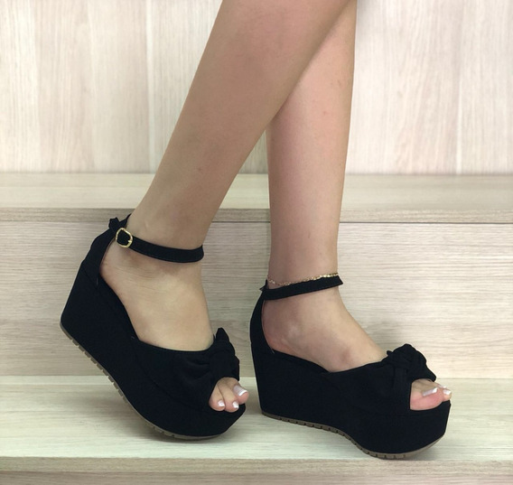 Fabrica De Sandalias Plataforma Negra Calzado Zapatos Moda