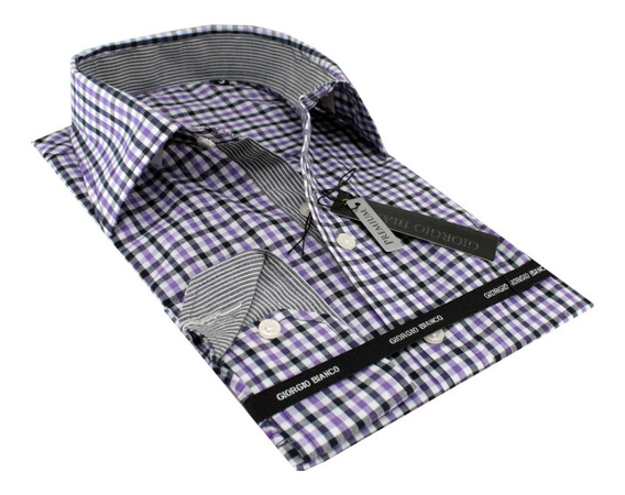 Camisa Casual Masculina Manga Longa Xadrez Ml-21851