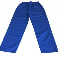 Kit 10 Calças Profissional Uniforme P/ Frentista Azul