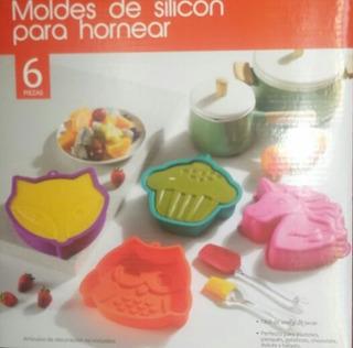 Moldes De Silicon Para Pastel 4 Modelos Y 2 Accesorios