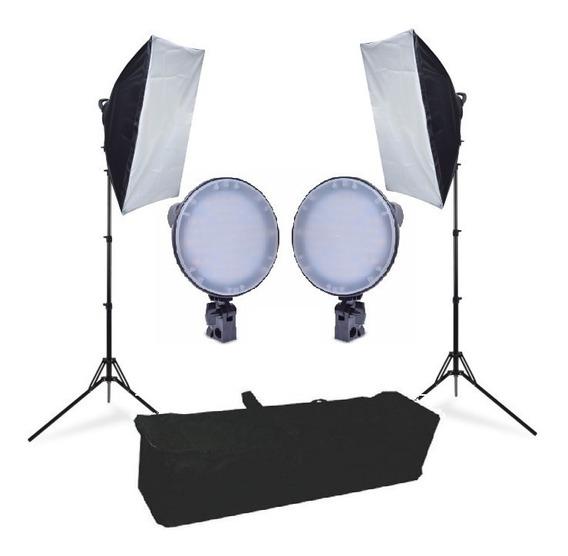 Iluminação 252 Leds Softbox 50x70 Fotografia E Filmagem