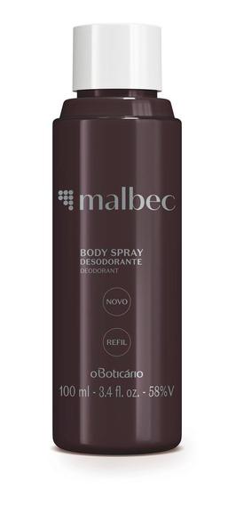 Refil Malbec Desodorante Body Spray 100 Ml