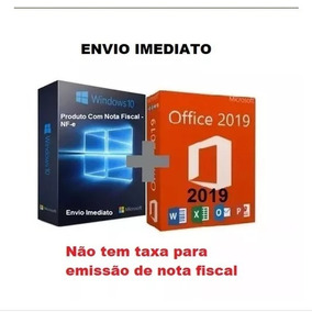 Windows 10 Pro Office 2019 Pro Chave Licença Download C/nf-e