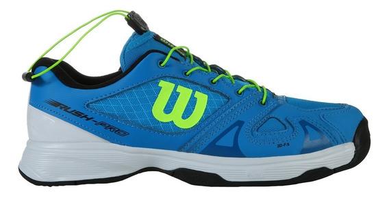 Tenis Wilson Junior Rush Pro Azul Para Tennis