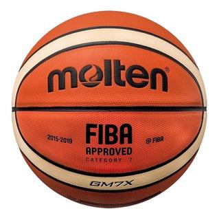 Balon Basquetbol Molten Bgm7x Piel Sintetica Naranja N°7
