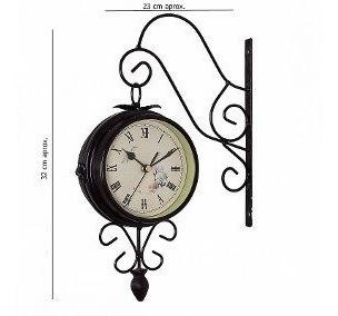 Reloj De Pared Doble Vista Pra Interiores O Exteriores.
