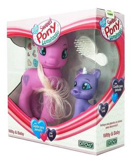 Muñeca The Sweet Pony Witty & Baby Luminoso Stickers Ditoys