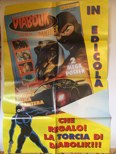 Imagem 1 de 2 de Poster Italiano Diabolik - Bonellihq Cx417 B19