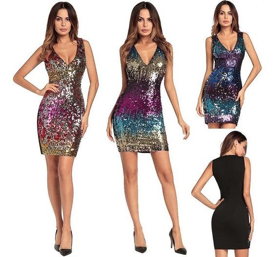 Moda Mujer Vestido Fiesta Sexy Casual Formal Gala