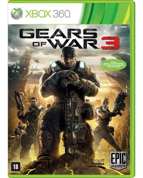 Gears Of War 3 Xbox 360 Xbox One Novo Lacrado Mídia Física