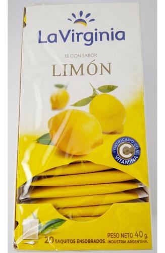 La Virginia Te Con Sabor Limon 20 Saquitos En Sobre 2 Gr