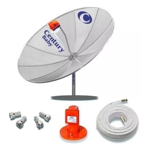 Kit Antena Parabolica 1.70 Mono Ponto S2 Super Digital Centu