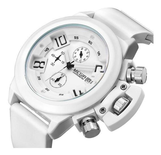 Relógio De Pulso Megir Esportivo Cronografo Militar Quartzo