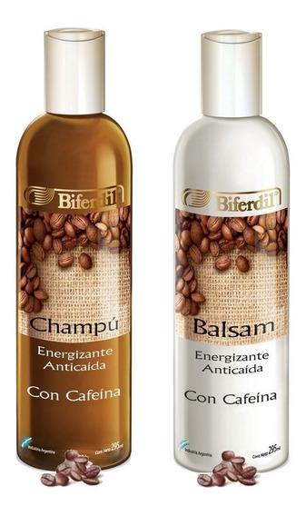 Shampoo + Balsam Biferdil Energizante Anti-caida Con Cafeina