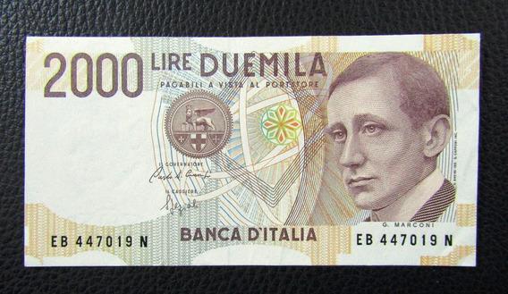 Italia Billete 2000 Liras P-115 Unc 1990