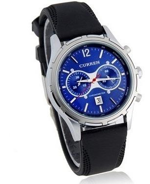 Relógio Sport Elegante Sport Calendário Dia Curren Azul