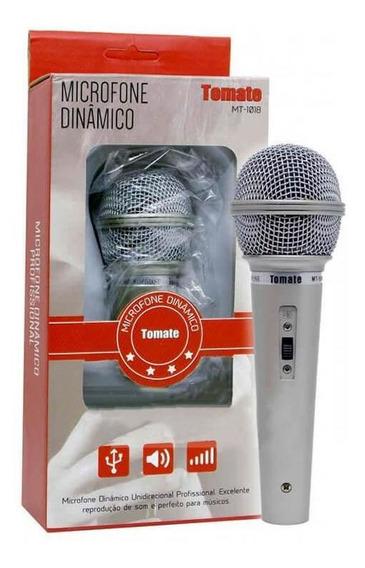 Microfone Dinâmico Unidirecional Com Fio Tomate - Mt-1018