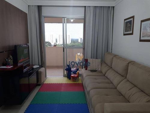 Apartamento Com 3 Dormitórios À Venda, 83 M² Por R$ 370.000,00 - Jardim Paulista - São José Dos Campos/sp - Ap1284