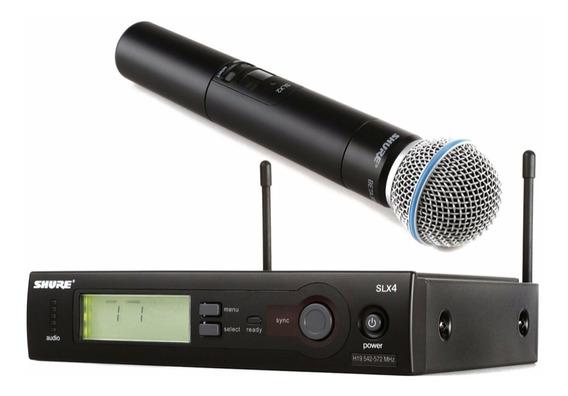 Novo Microfone Sem Fio Shure Beta58a Slx2 100 Metros