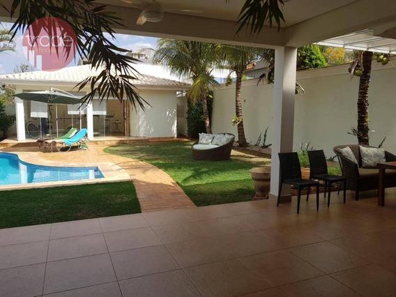 Casa Com 5 Dormitórios Para Alugar, 500 M² Por R$ 6.000/mês - Royal Park - Ribeirão Preto/sp - Ca2961