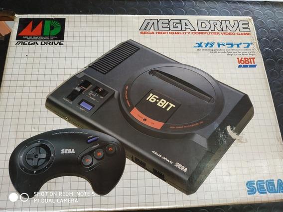 Sega Mega Drive + Controle Propad E 7 Fitas.