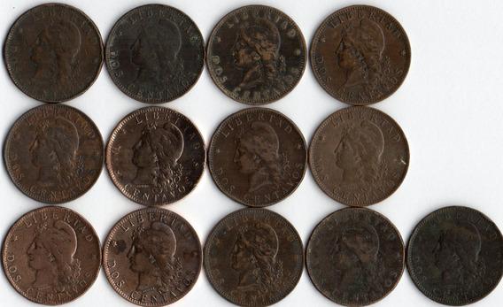 Moneda 2 Centavo Patacon Coleccion Completa De 14 Monedas