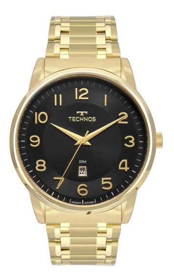 Relógio Technos Quadrado Dourado Masculino 2117lbh/4p