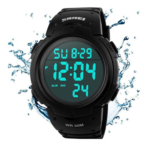 Relógio Skmei Led Digital Masculino Esportivo Mergulho
