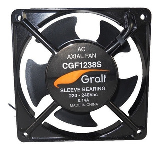 Turbina Cooler Gralf Ac 220v 0.14a 4 Cpu 120x120x38mm Buje