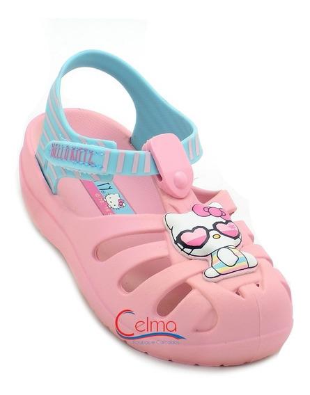 21880 Sandália Infantil Feminina Grendene Hello Kitty