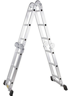 Escalera Articulda Aluminio 3,6 Metros 12 Peldaños