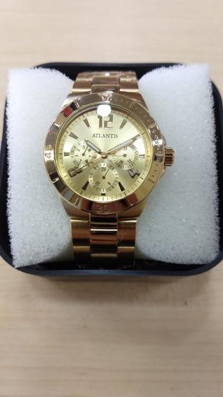 Relógio Atlantis Feminino Luxo Original - Lançamento Cx Nota