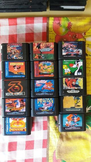 Lote De 68 Jogos Para Mega Drive!