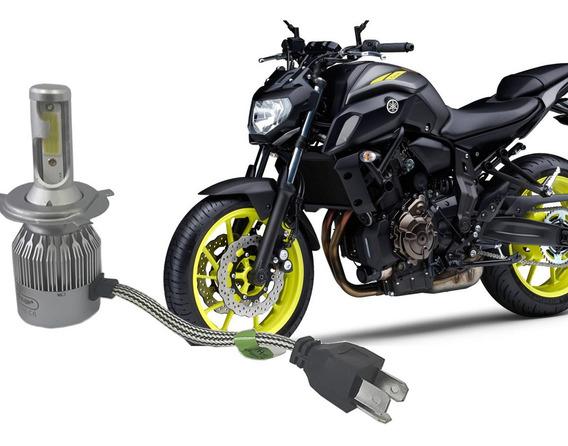 Lampada Super Led 6000k Farol Moto Yamaha Mt 07 2016 Á 2018