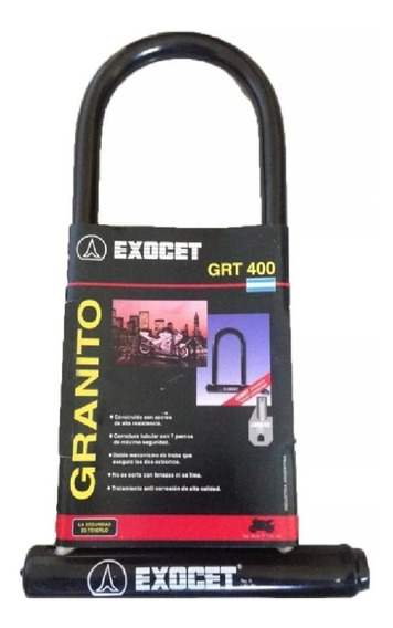 Traba U Exocet Candado Grt 400 Granito Gaona Motos!