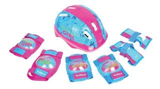 Kit Proteção Infantil Capacete Joelheira Cotoveleira Luva