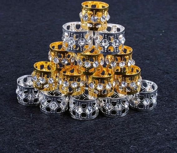 Anéis Para Dreadlocks,ajustavel Dourado 25 Unidades(oferta)